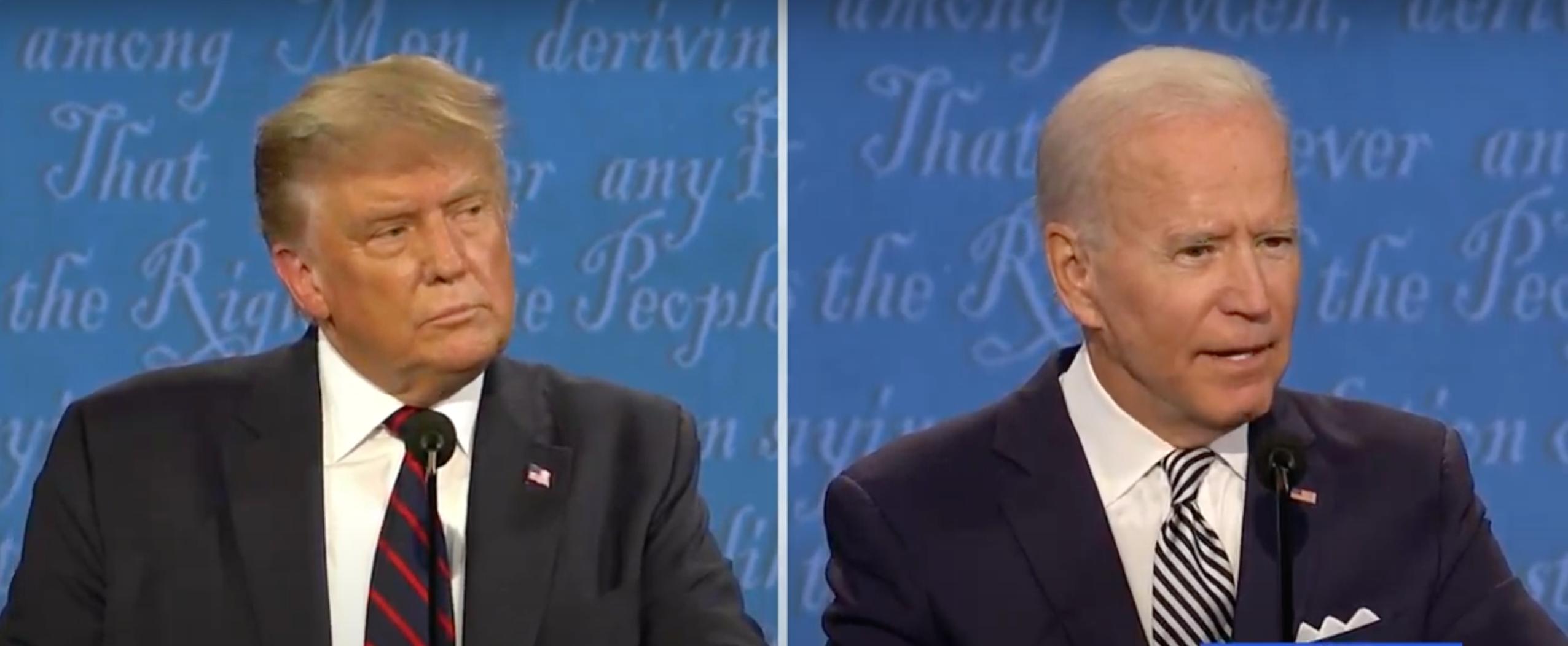 6 frases que definieron el primer debate entre Trump y Biden