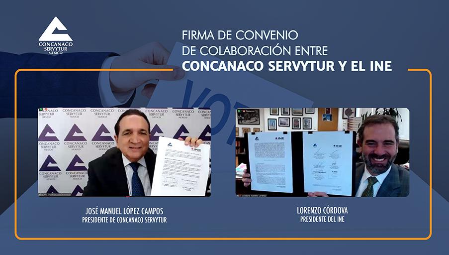 Concanaco e INE promoverán participación ciudadana en elecciones