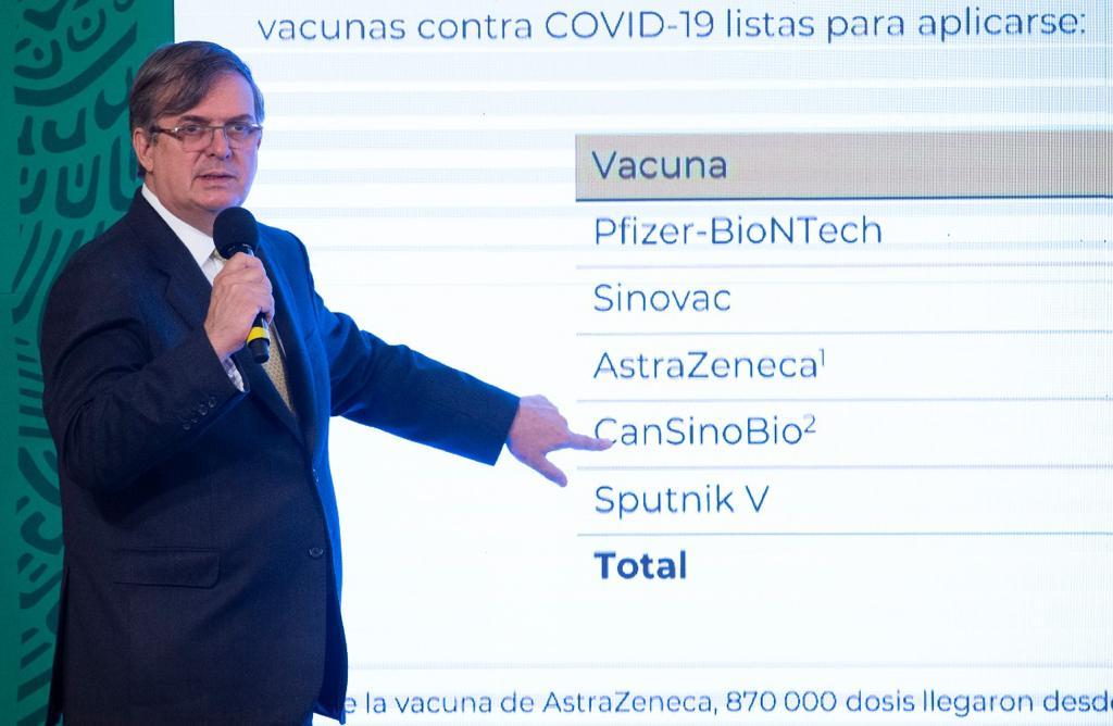 Ebrard viajará a cuatro países para garantizar acceso de México a vacunas