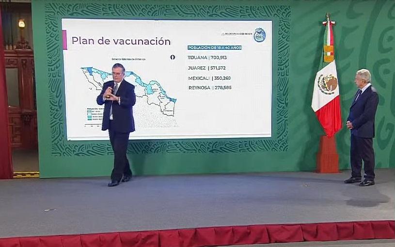 Fortalecerán vacunación en la frontera norte para reactivar economía