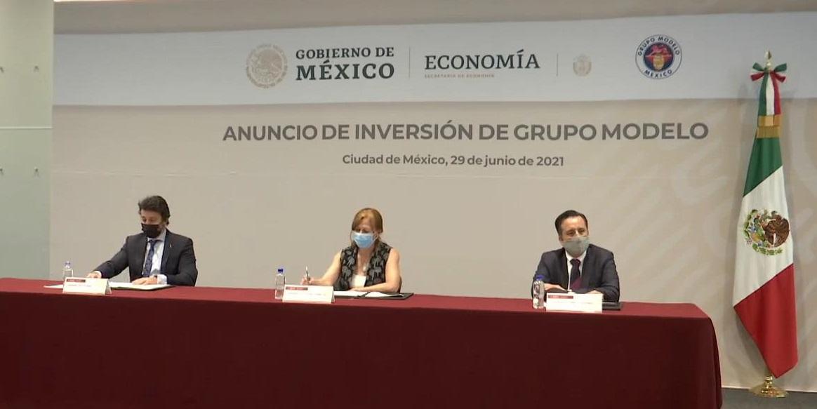 Grupo Modelo invertirá más de 3 mil mdp en Veracruz