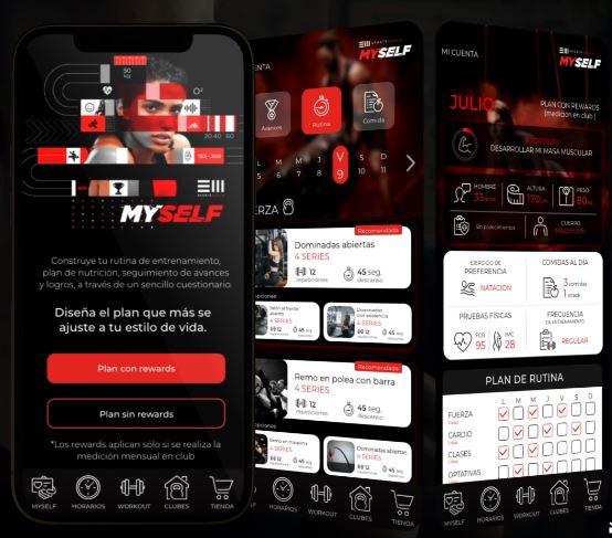Myself es la nueva app de ejercicio en México