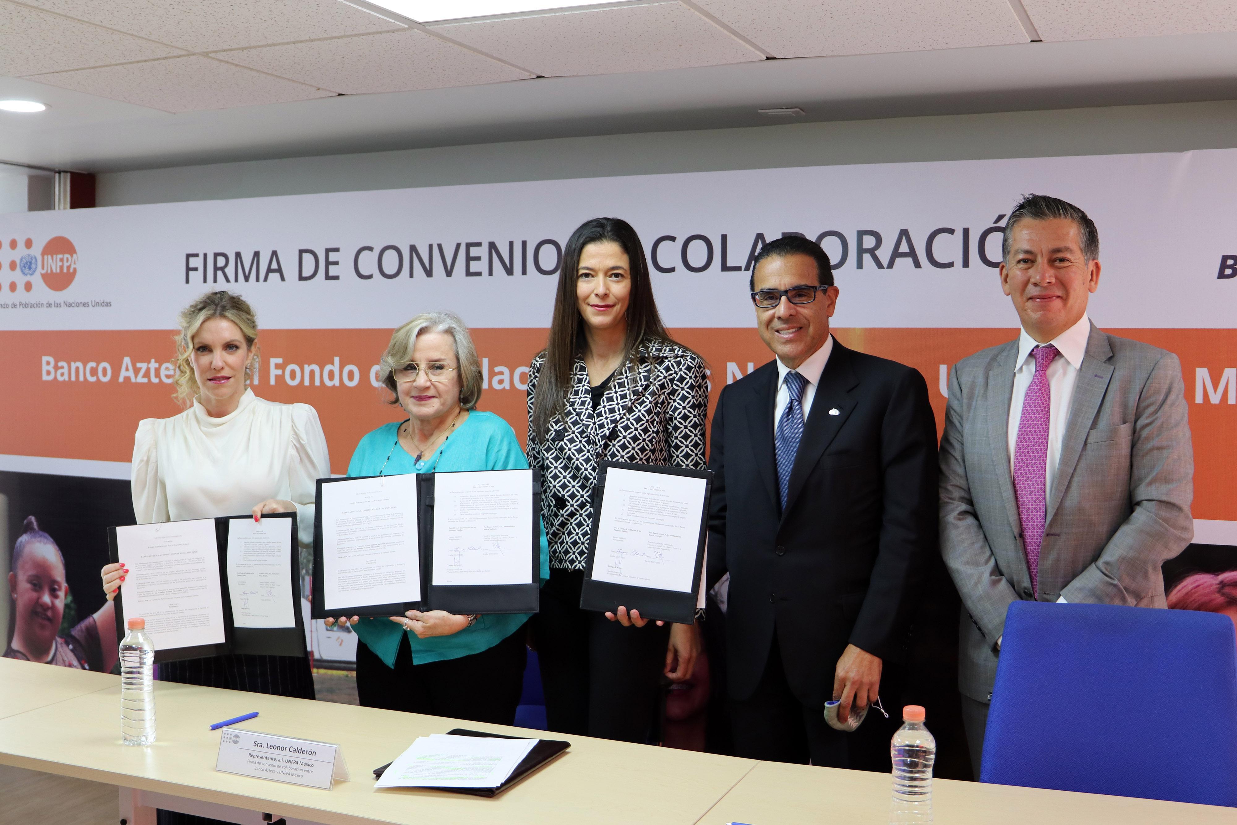 Fondo de Población de la ONU y Banco Azteca a favor de las mujeres