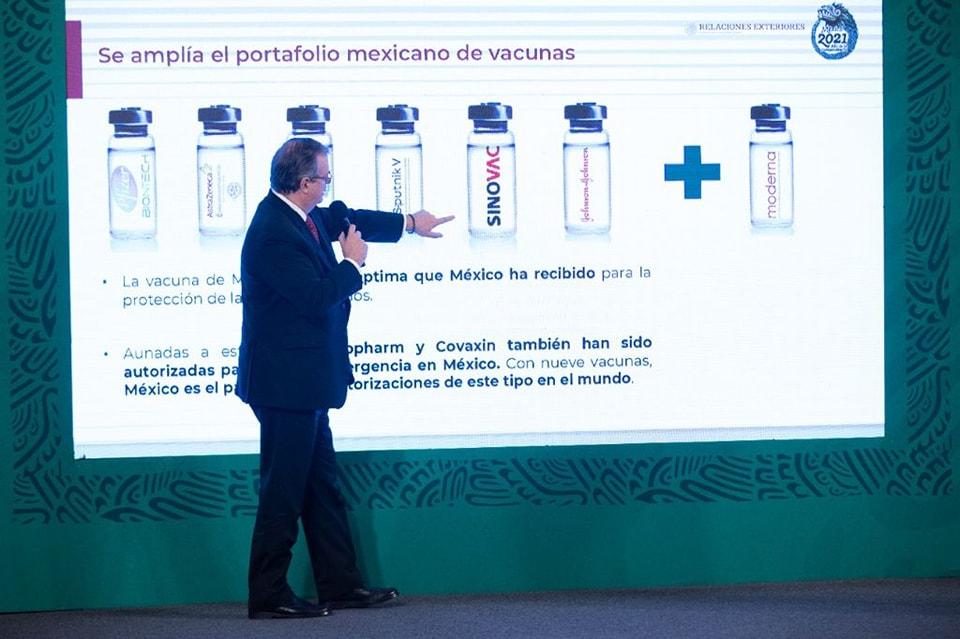 México recibió un millón 750 mil vacunas de Moderna