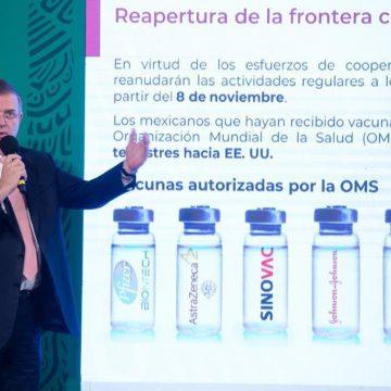 Gobierno de EU donó 3.4 millones de vacunas a México
